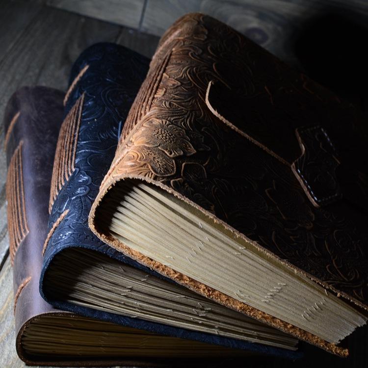 Diario de cuero hecho a mano de la vendimia Cuaderno de bocetos Diario de viaje Papel de escribir en blanco Nots Regalos Escuela Oficina Papelería