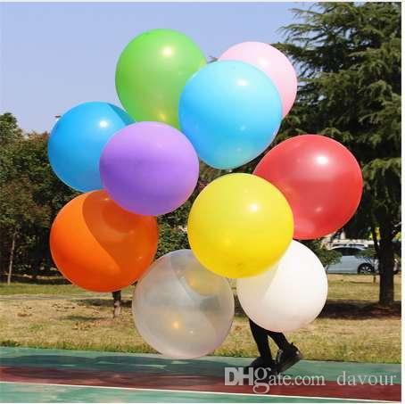 1 unid 36 Pulgadas 90 cm Gran Globo Claro Globos de Látex Decoración de la Boda Bolas de Aire de Helio Inflables Globos de Fiesta de Cumpleaños Feliz