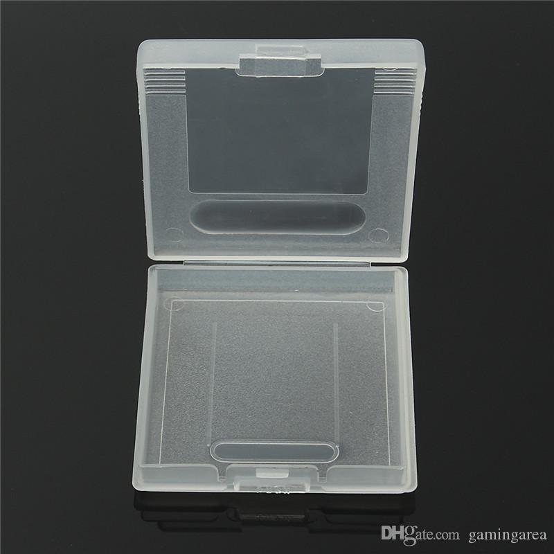 Gra Cartridge Plastikowa skrzynka Karty do gry Pudełko Do Gameboy Pocket GB GBC GBP Protector Holder Pokrywa Shell Wysokiej jakości szybki statek