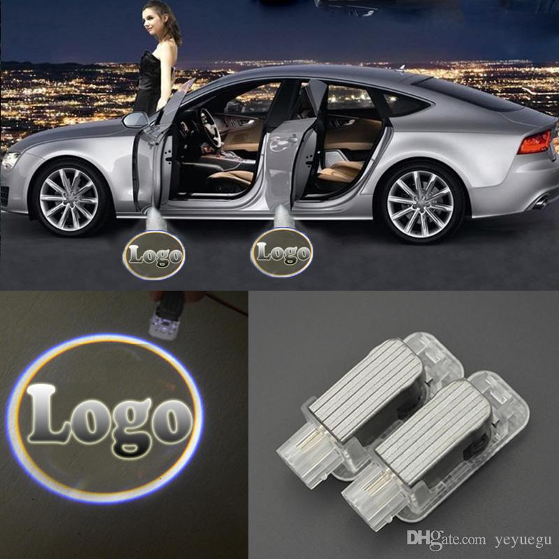 3D Laser Car Door Welcome Lights LED CIRCLE Ghost Shadow Light Logo Projector Courtesy Lights for Mercedes-Benz BMW Toyota Audi