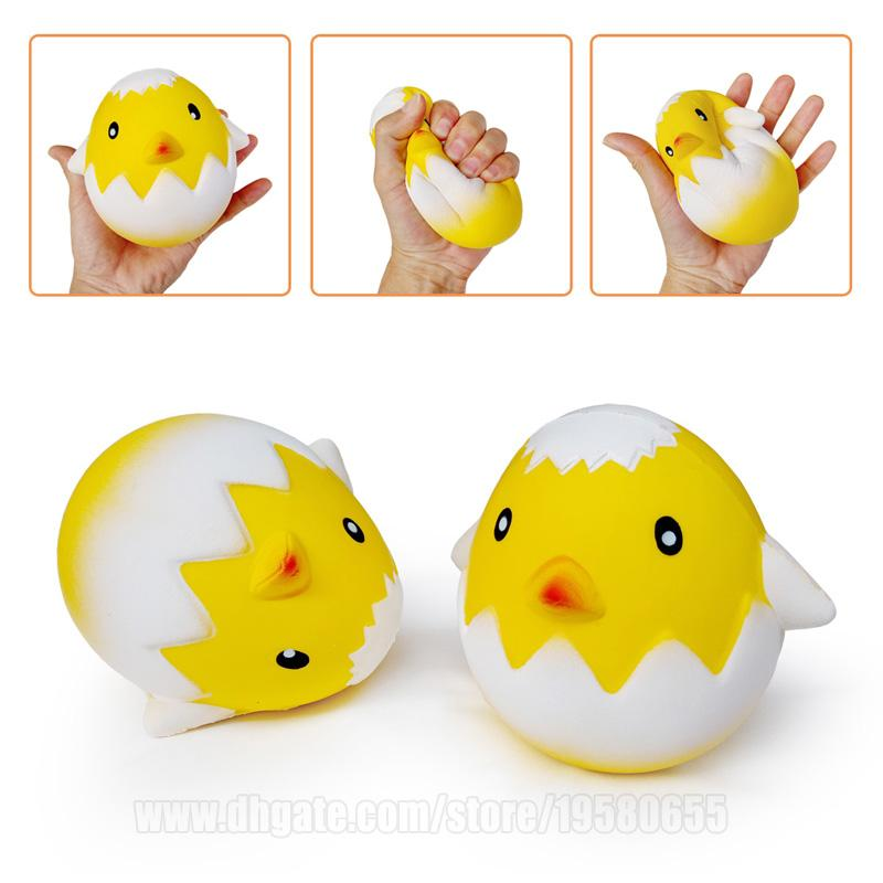 Chick Hatching Squishy Yellow Chicken In Egg