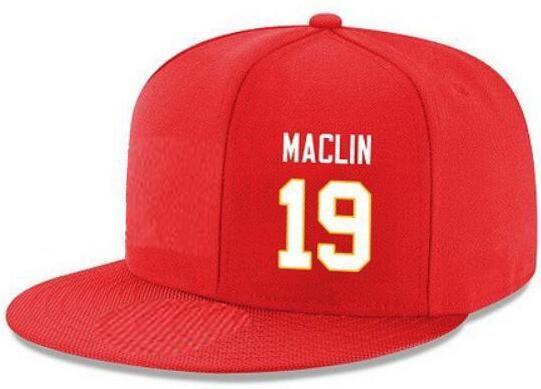 Cappelli Snapback Personalizzato qualsiasi numero Nome giocatore # 13 Thomas # 19 Maclin Personalizzati TUTTI I tappi squadra Accetta logo o nome personalizzato ricamo piatto