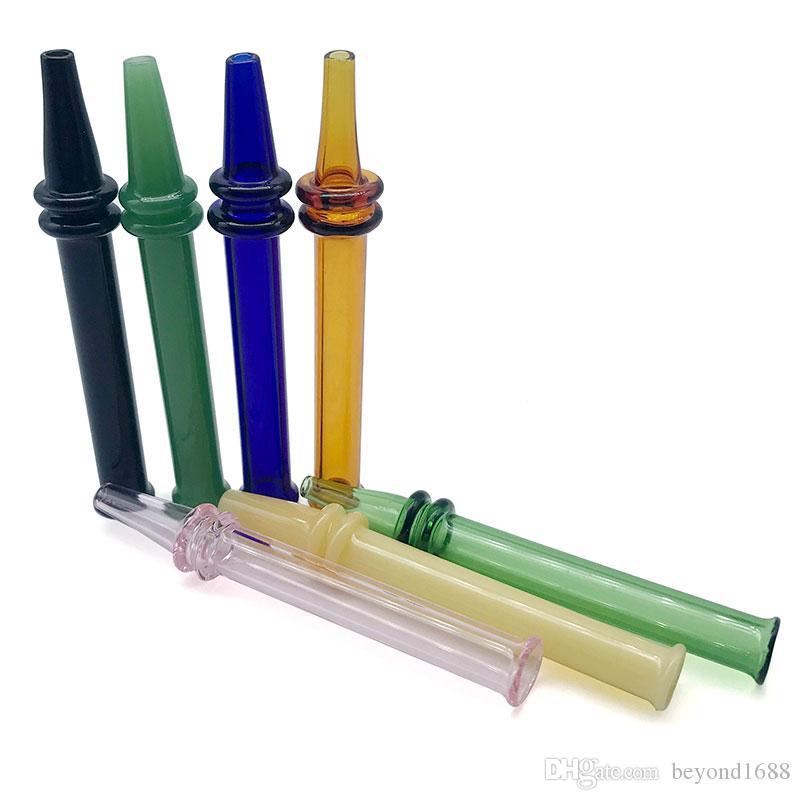 Последнееe mini nc с ручкой стиль жара быстро стекло nc курение аксессуары dab прямой стеклянный наконечник для вышка