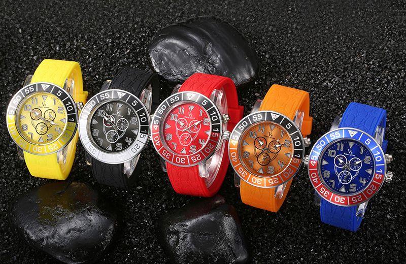 Fashion V6 LED watch Atmos Clock Unisex Silicone LED Watches Silicone Sport Military Quartz Wristwatches Free shipping