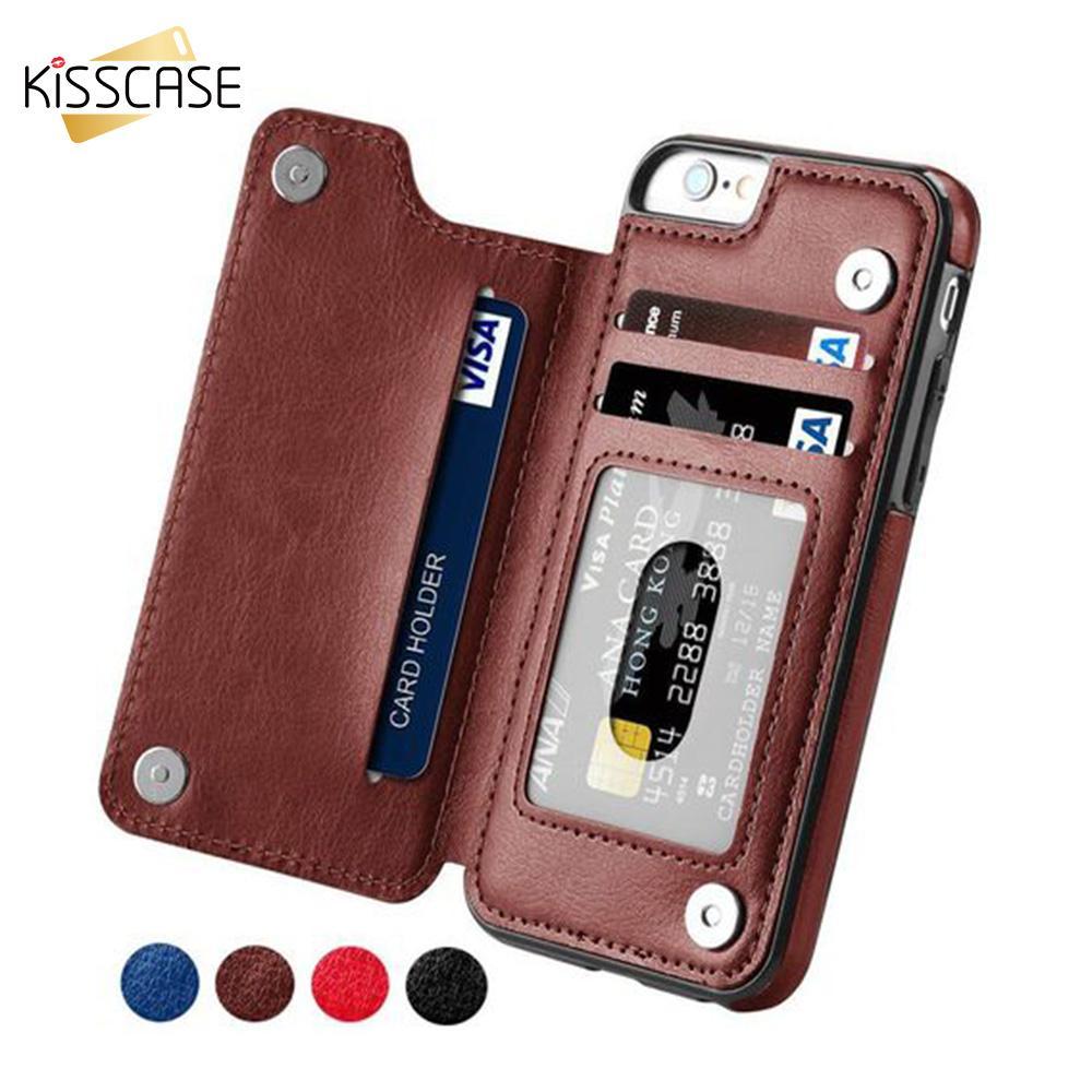 Custodie A Portafoglio IPhone 6S 6 7 8 Plus Shell Slot Schede Retro Flip Custodia In Pelle IPhone 5S 5 SE X 10 Cover Capa Da Super006, 1,26 € | ...