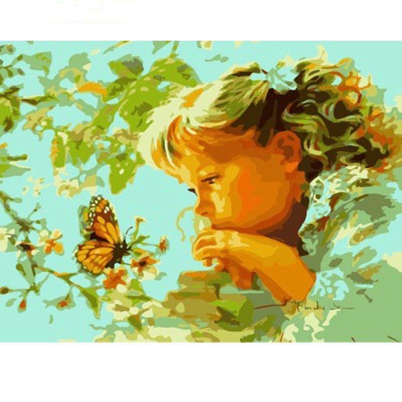 Нет кадр девушки Diy живопись by Numbers современная настенная живопись акриловая краска на холсте для домашнего декора 40x50cm Artwork