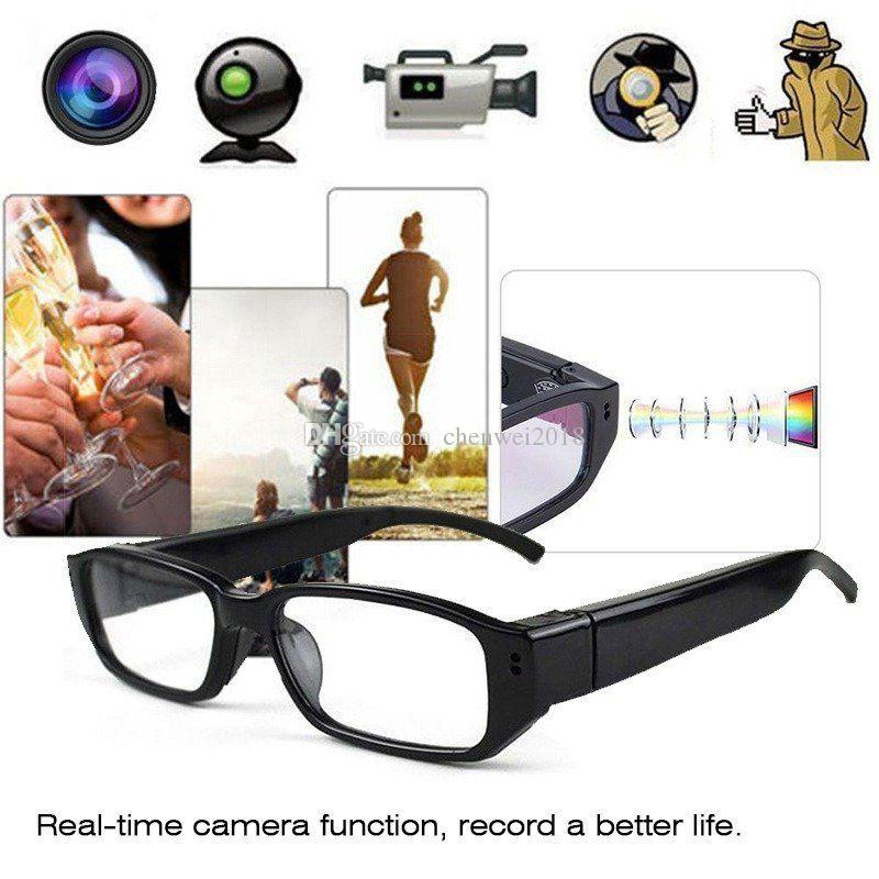 Full HD 1080P 30FPS Mini Camera Glasses Camera Wearable Eyewear MINI DV DVR Security Portable Audio Video Recorder in Retail Box