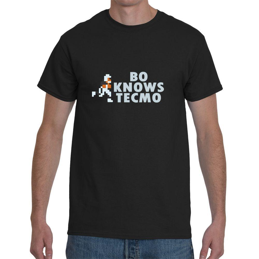 Blue Bo Jackson Bo Knows Tecmo Bowl T Shirt