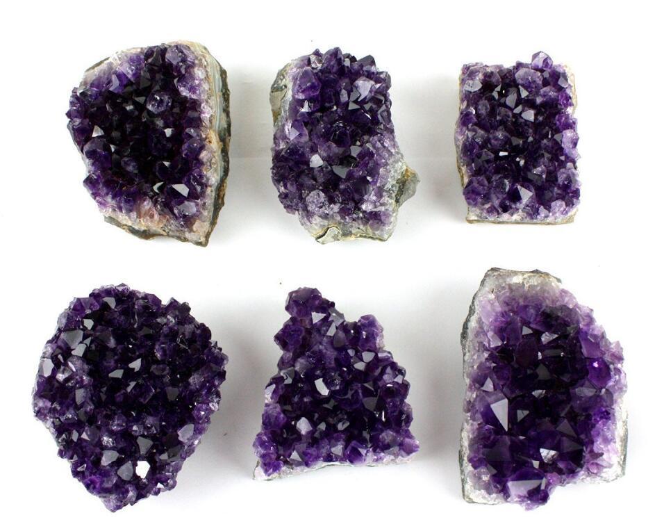 1/2lb to 1lb natural dark purple Amethyst Quartz Crystal drusy Cluster healing Uruguay rock specimen for birthdaygift