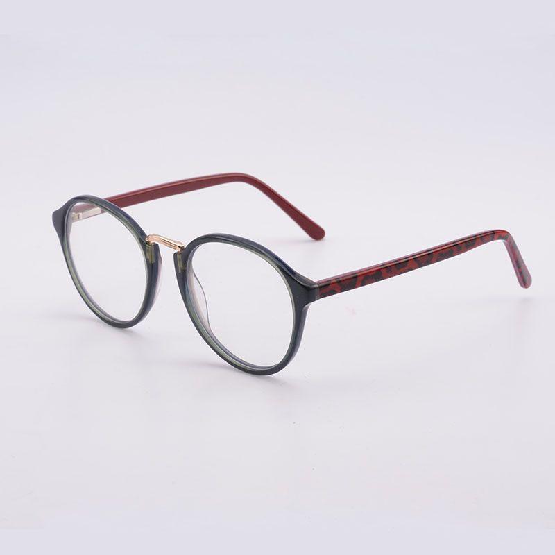 Rodada Quadro Óculos Moda Óculos de Armação Mulheres Eyewear Óculos Retro Olho Círculo Para Senhoras