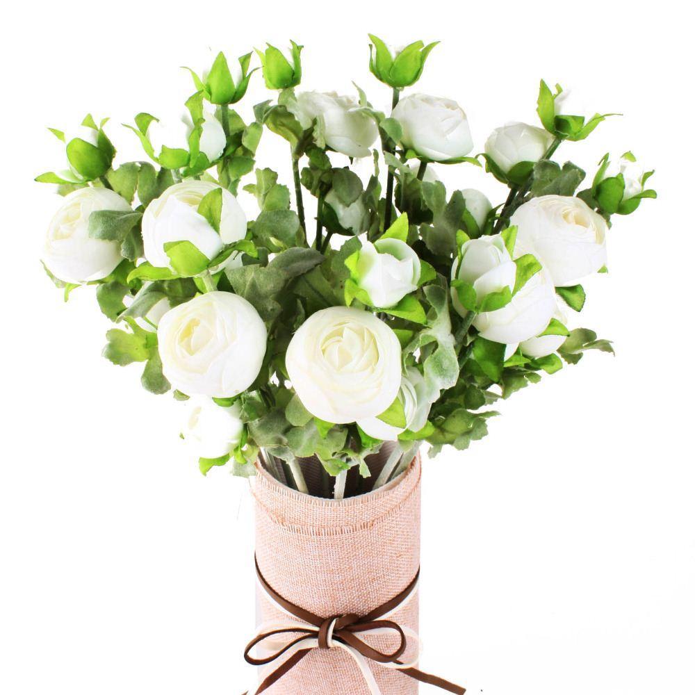 5 цветов роза Камелия искусственный шелк цветы букет свадьба украшения дома Home Decor шелковые цветы