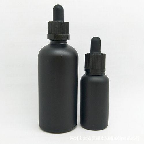15 ml 30 ml Recarregáveis Vazio Fosco Preto Vidro Aromaterapia Recipiente De Olho Conta-gotas De Óleo Essencial Garrafa Viagem Pot