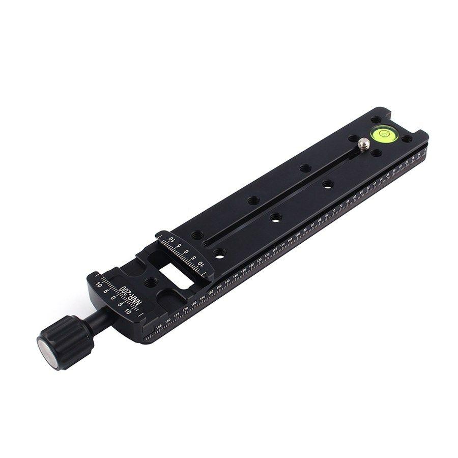 Black Camera Accessories Wholesales NNR200 Multi-Purpose 200mm Nodal Rail Slide Plate QR Clamp Macro Panoramic Bracket Color : Black