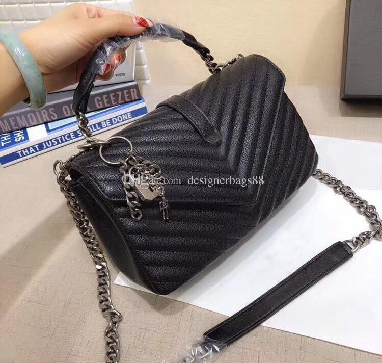 Luxus V-Form-Flaps-Ketten-Beutel Designer-Handtaschen mit Schlüsselkette Taschen-Qualitäts-Frauen-Schulter-Handtasche Kupplung Tragetaschen Messenger Geldbeuteln