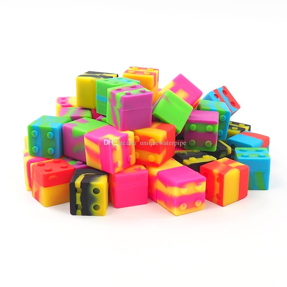 9ML block Silicone Non-stick Jars Dab Container For Vaporizer FDA Food Grade Silicone Box Wax Container