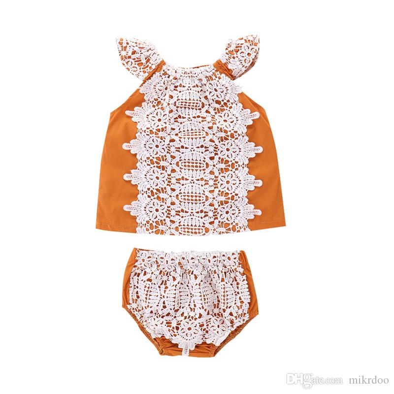 Us Lindo Criança Pequena Bebê Menina Tops T-shirt Saia 2pcs conjunto de roupas casuais