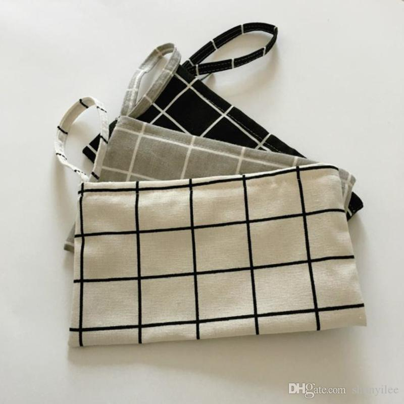 Travel Cotton Linen Canvas Bag Reusable Cloth makeup Bags Handbag For Women 11*20cm fast shipping F1443