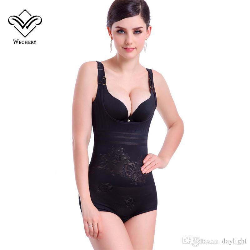 Wechery Body Shapers Bodysuits Cinta Modeladora Trainer Cintura Strethcy Respirável Macio Shapewears Espartilho Sexy Emagrecimento Cueca