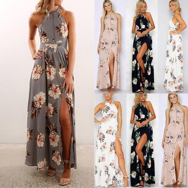 38722dcbd721 2017 New Summer Dress Women Print Dresses Long Dress Beach Maxi Dress Plus  Size Picture 8