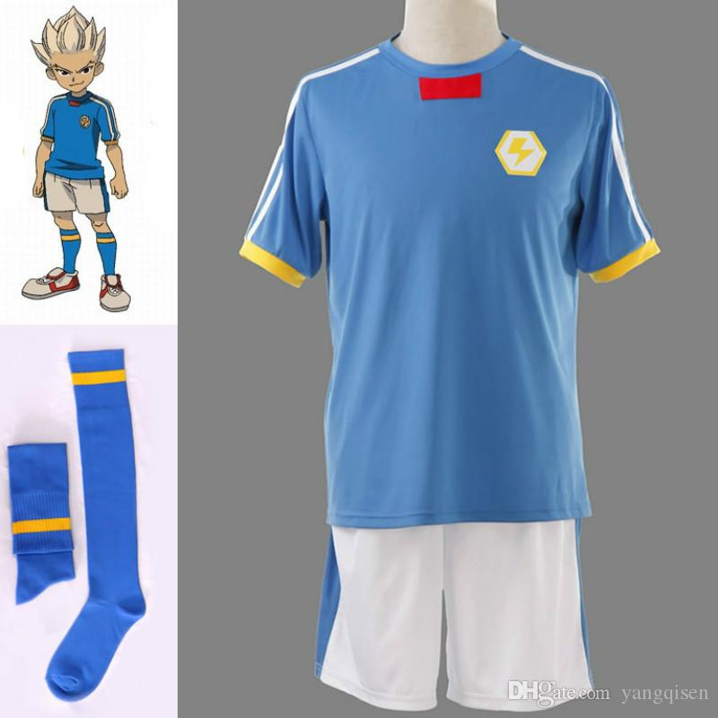 Inazuma Eleven Inazuma 일본 축구 팀 여름 학교 유니폼 애니메이션 코스프레 의상