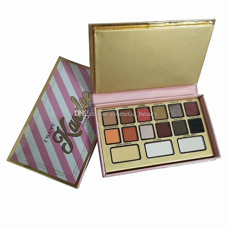 2018 Makeup Brand I Want Kandee Candy-Scented Eyeshadow Palette Limited Edition 15 Colors Eyeshadow Palette DHL shipping