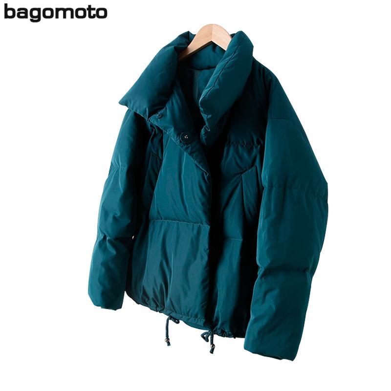 Bagomoto 2018 Automne Hiver Veste Femmes Manteau Mode Femme Stand Down Jacket Femmes Parkas Chaud Casual Plus La Taille Vêtements S18101102