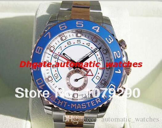2 relojes de moda de lujo de alta calidad y estilo Original caja II GM / T 116688 esfera blanca de acero inoxidable para hombre Relojes para hombres