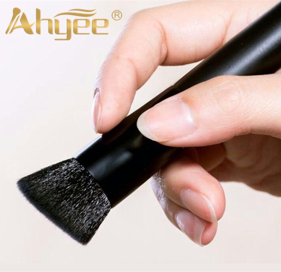 Hohe Qualität Holzgriff Schräge Flache Stil Multifunktions Make-Up Pinsel Für Frauen Gesicht Make-Up abgeschrägt Kabuki Pinsel