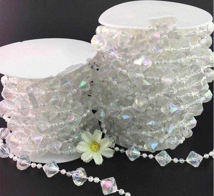 15M/Roll Hanging Acrylic Crystal Garland Bead Strand Gem Centerpiece Large Gemstone home Chrismas DIY Wedding Party Manzanita Tree
