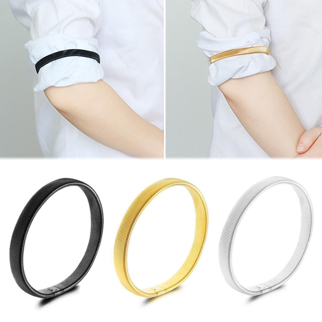 2 paires métal argenté style vintage Manche Porte-jarretelles serveurs shirt Arm Band