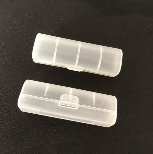단일 18650 배터리 건강 한 재료 전자 담배 예비 부품에 대 한 1pc / pack 원래 플라스틱 스토리지 케이스