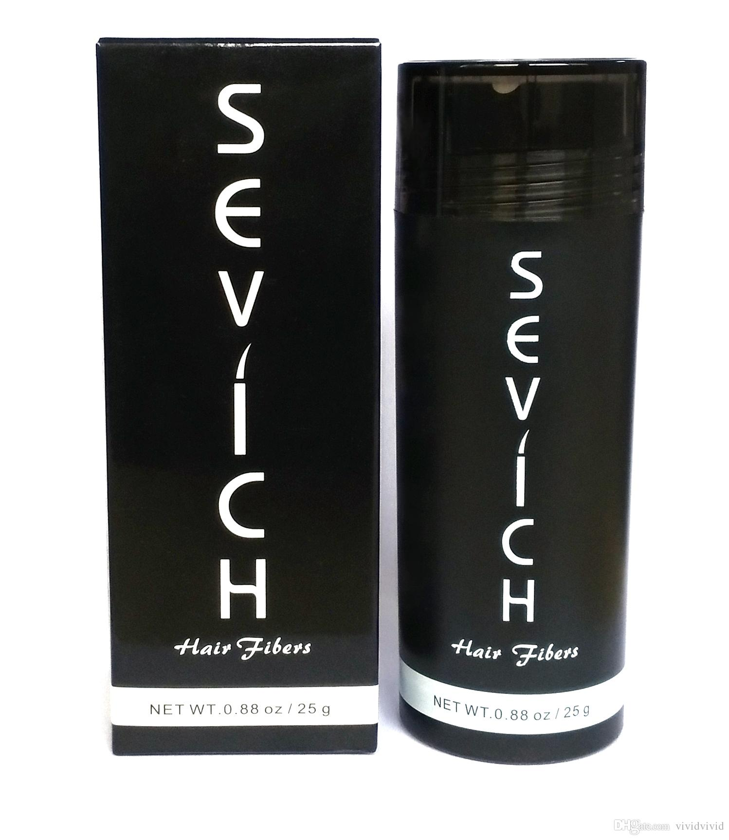 OEM Private Label Keratin Hair building Fiber Thinning Loss Concealer Instant Styling Powder SEVICH 28g
