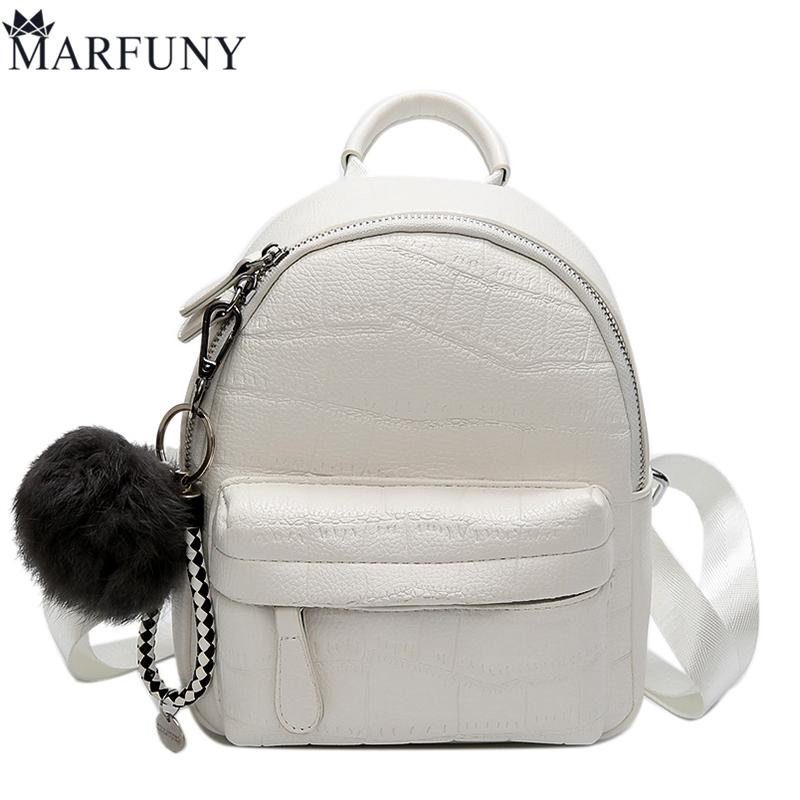 Mini Backpacks Chains Women Leather Ladies School Girls Shoulder Bags Polyester