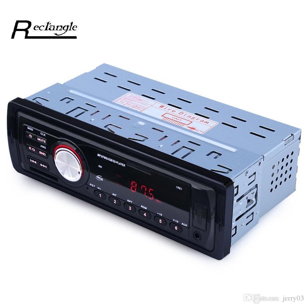 12 V Radio de coche Reproductor de audio Estéreo MP3 Transmisor de FM Compatible con FM USB / SD / MMC Lector de tarjetas 1 DIN In Dash Car Electronics