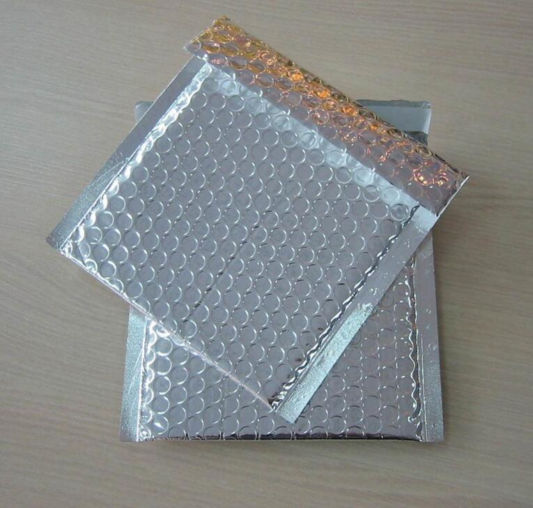 15 * 13cm 50pcs SilverGold 거품 봉투 우편물 선물 전화 케이스 Shockproof 포장 거품 봉투 봉투 무료 배송