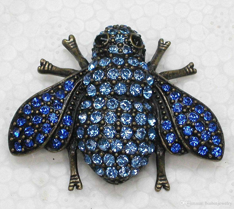 Rhinestone di cristallo Cicala Pin Spilla Moda regalo spille gioielli C875