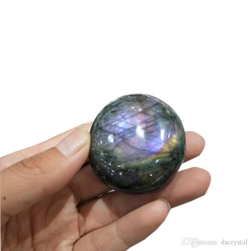 1 adet 4-6 cm Nadir yüksek kaliteli mor Doğal labradorit Kristal taş palm taş mor renk şifa çakra cilalı aytaşı