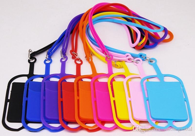 10 cores lingas de silicone pescoço cinta de pescoço colar titular titular cinta para celular universal celular