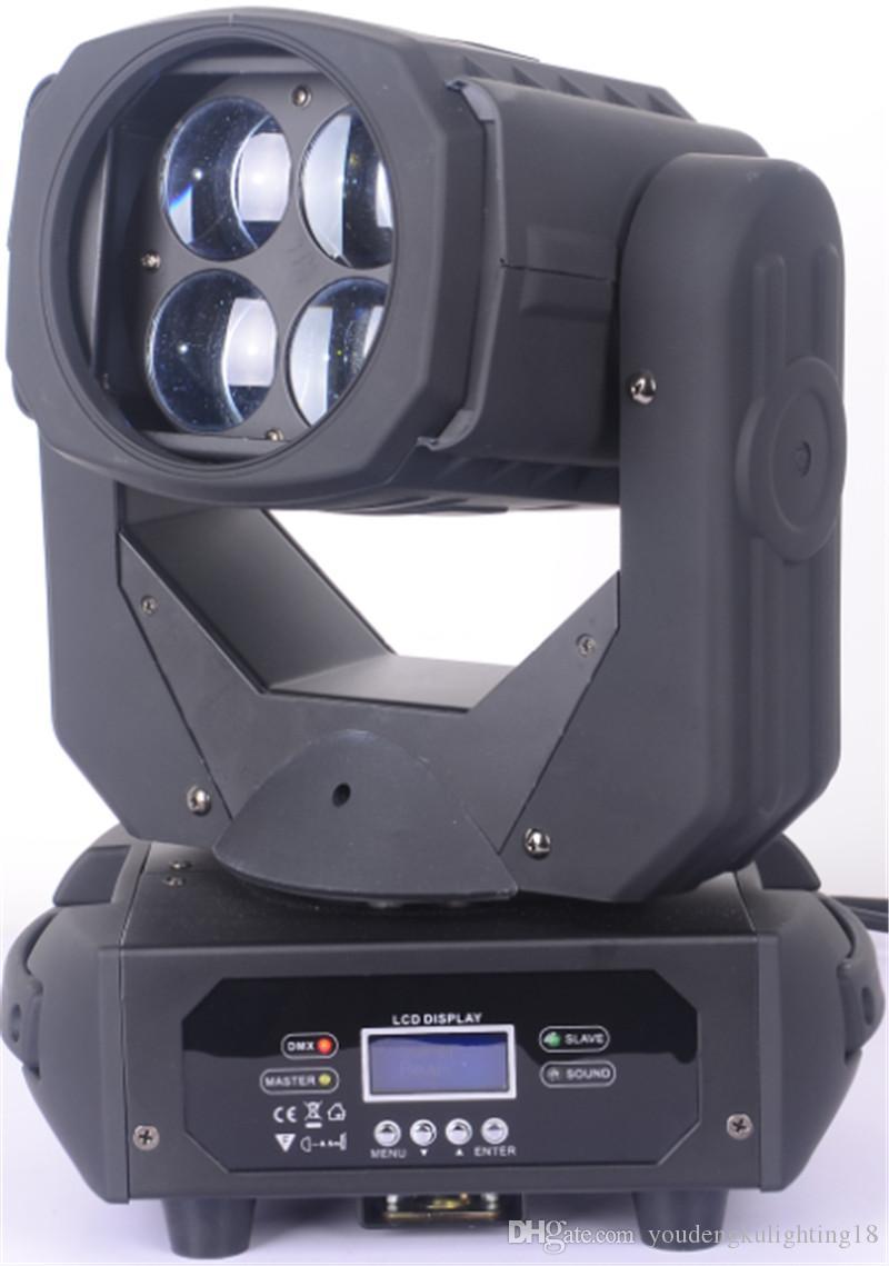 4pcs / lot ha condotto la luce commovente della testa 4 * 25w dmx 512 illuminazione del fascio 4x25w luce commovente della testa mobile del fascio eccellente