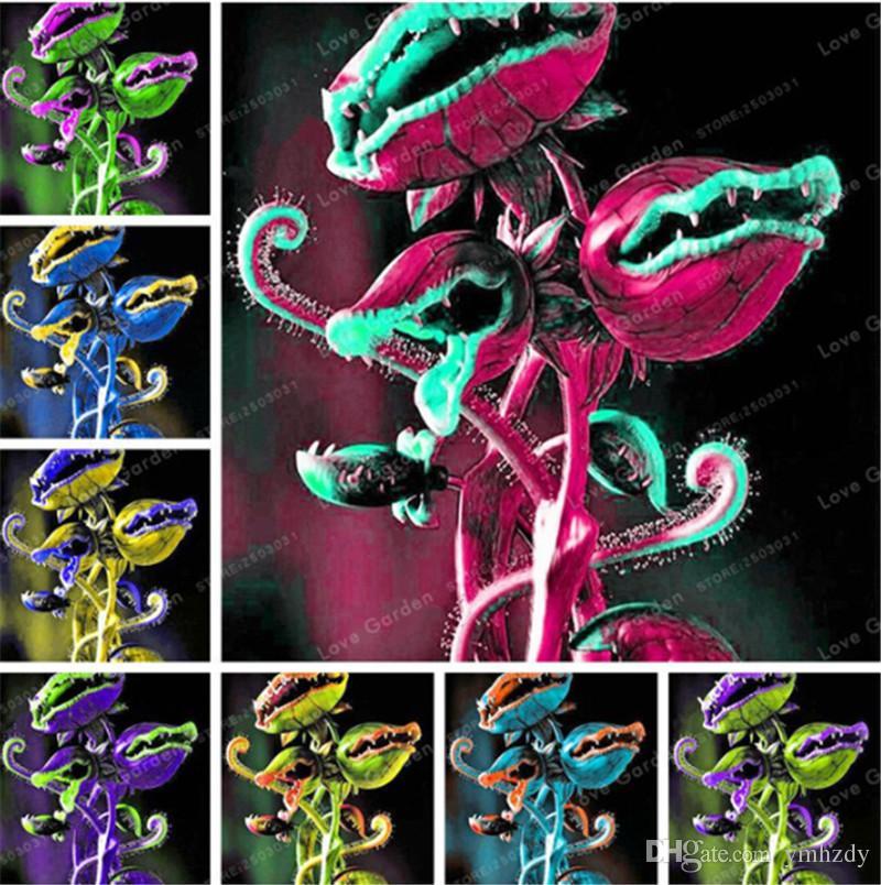 Venus trampa para moscas planta carnívora semilla Dionaea Muscipula Cordyceps Flycatcher Semillas De Flores Raras para Home Garden 50 piezas