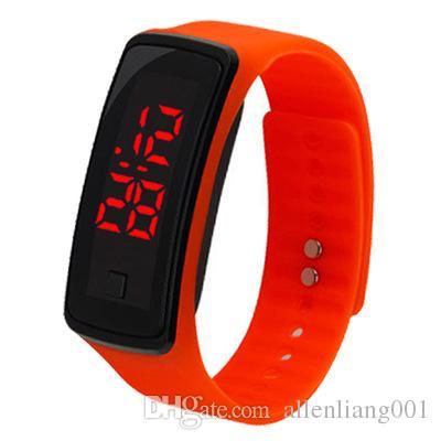 wholesale Fashion Sport LED Watch Candy Jelly Men Women Unisex Silicone Rubber Touch Screen Digital Bracelet Kids children Boy Wristwatch
