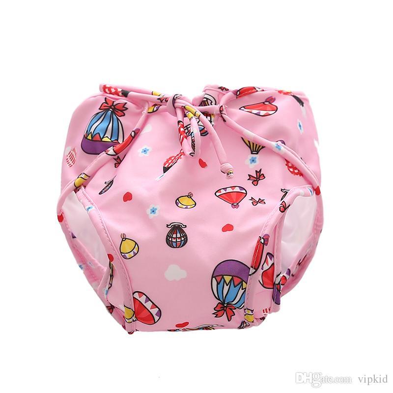 남자와 여자 방수 수영 트렁크 V001에 대한 아기 수영 바지 조절 수영 트렁크 아기 누출 방지 소변 수영 트렁크
