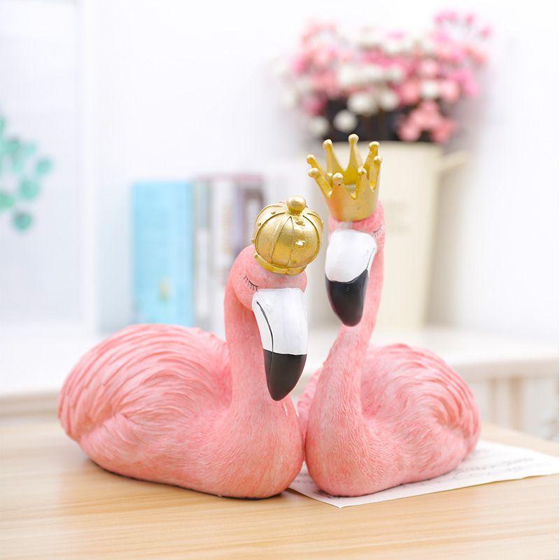 Toptan 1 ADET Nordic Reçine Flamingo Craftwork Figürinleri Ev Dekorasyonu Reçine Mobilya Makaleler Makaleler Reçine Flamingo El Sanatları