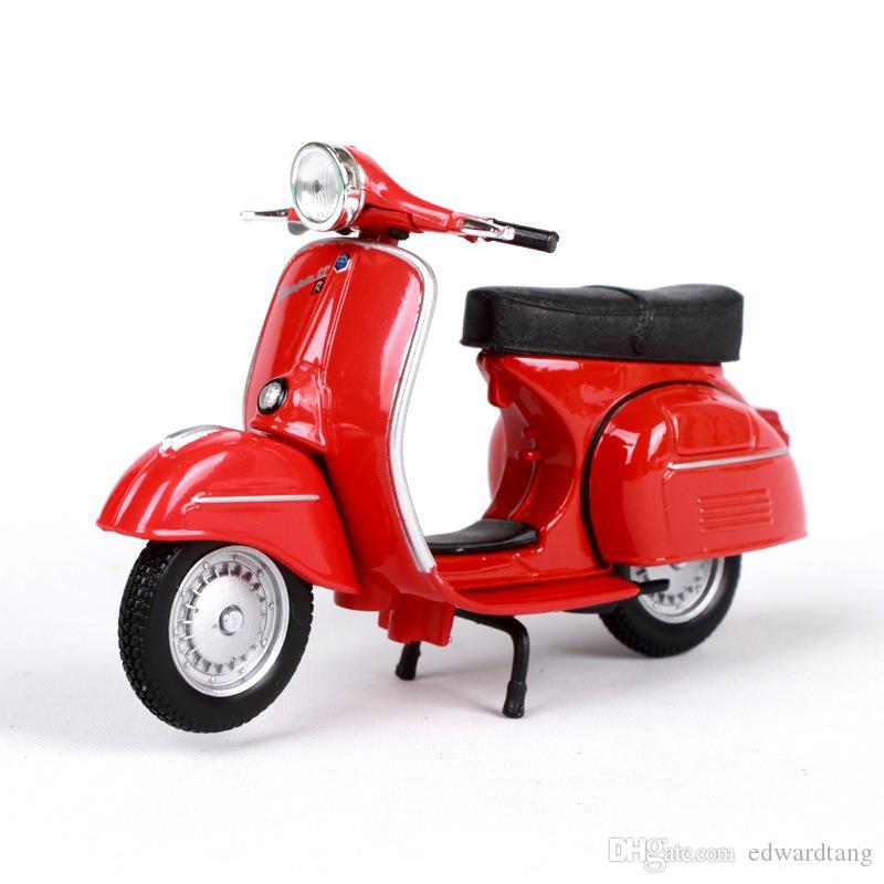 Diecast Piaggio Pedale Classic Modello Motociclo, Boy 'Giocattoli, della scala di 1:18, l'alta simulazione, Kid' Regalo di compleanno del partito, raccolta, decorazione domestica