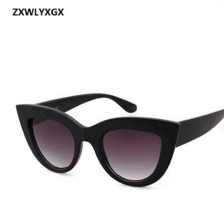 ZXWLYXGX 2018 New Sunglasses Retro CatEye Sunglasses Lady Brand Designer Vintage Black Sunglasses Women Women UV400
