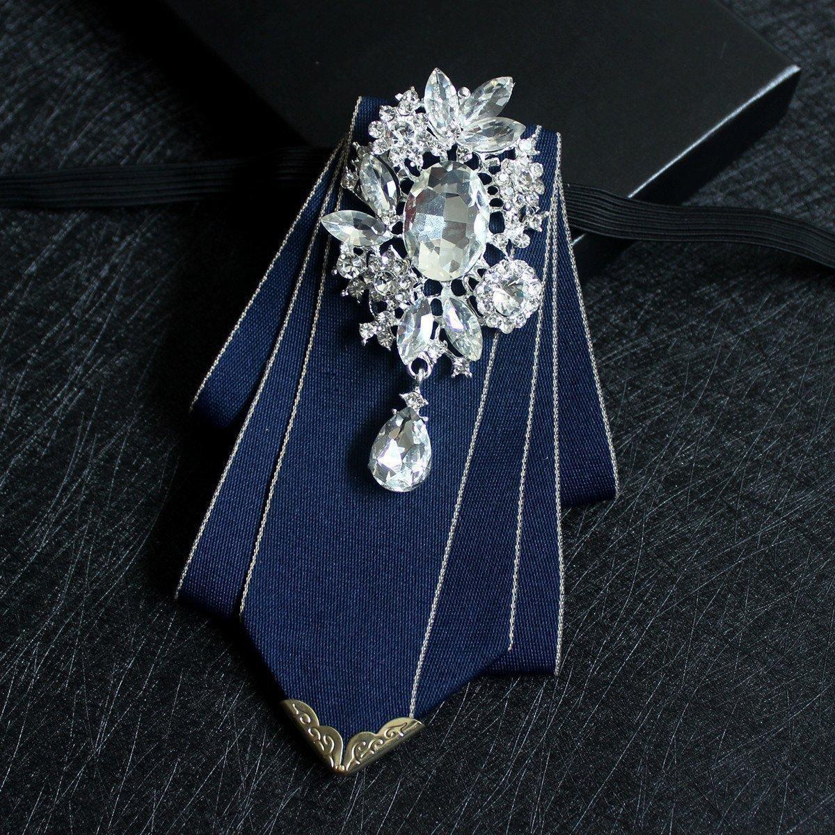 Embalaje de la caja como corbata de lazo del regalo Collar con el cuadrado del diamante artificial / del bolsillo para la fiesta del novio / del padrino de boda Tamaño de la etapa de funcionamiento: los 15 * 10cm