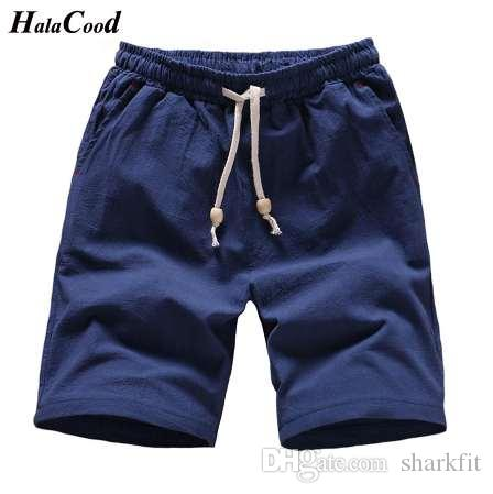 Estilo chinês 2018 calções dos homens sólidos plus size 4xl verão praia shorts homens algodão casual masculino calções homme marca clothing gordura