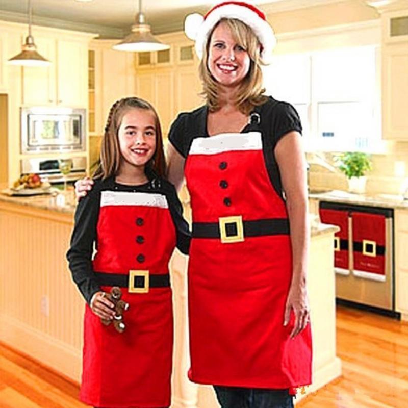 Yeni Noel Desen Noel Mutfak Bar Ev Çocuk Yetişkin Kırmızı Pişirme Parti Noel Dekor Drop Shipping # 0521 Y18102609