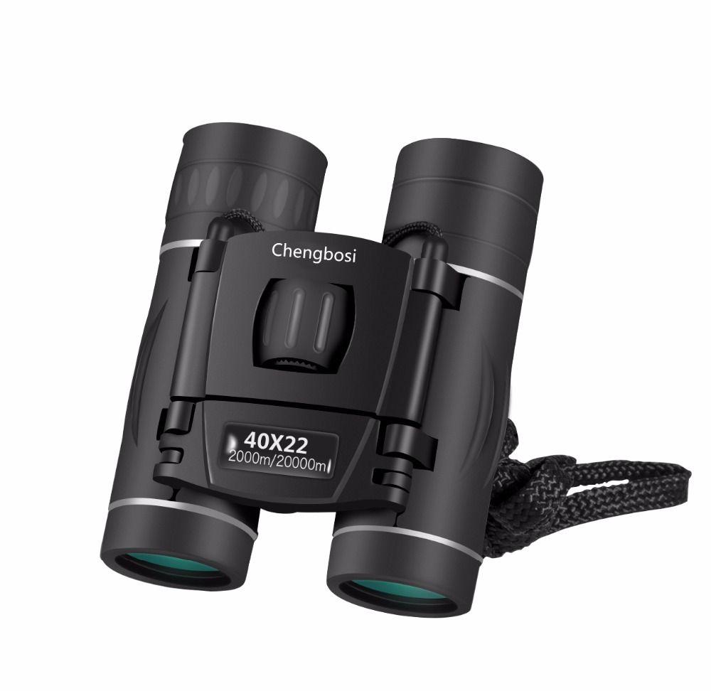 Nueva llegada 40x22 Binocular Zoom Gafas de campo Grandes mini telescopios portátiles Caza HD Binoculares potentes Caliente para viajes