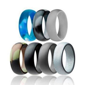 Silikonowy ślubny pierścień Elastyczny silikonowy O-ring ślubny Wygodny Dopasowanie Lighteigh Pierścień Dla Mens Multicolor Wygodna konstrukcja dla mężczyzn Kobiet